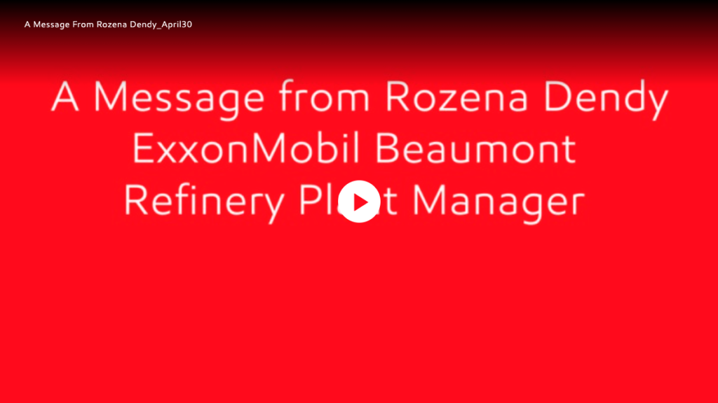 ExxonMobil Beaumont Refinery Plant Manager Rozena Dendy shares an update for our neighbors on our ongoing negotiations with the United Steelworkers union